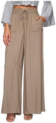 BB Dakota Montero Rayon Twill Wide Leg Pants Women's Casual Pants