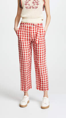 RED Valentino Checked Pants