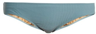 Made by Dawn Arrow Ribbed Bikini Briefs - Womens - Light Blue