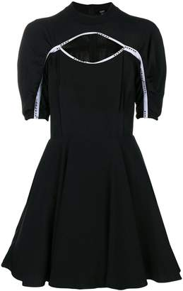 Versus logo-trim skater dress