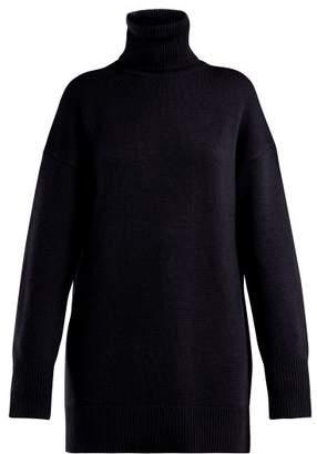 Joseph - Roll Neck Wool Sweater - Womens - Navy