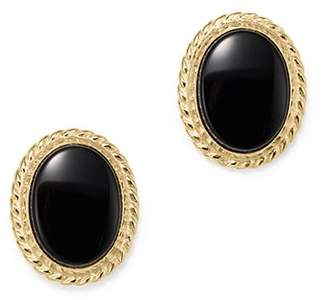 Bloomingdale's Onyx Bezel Set Small Stud Earrings in 14K Yellow Gold - 100% Exclusive