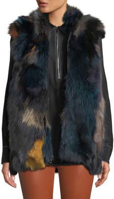 Kelli Kouri Multicolored Fur Vest