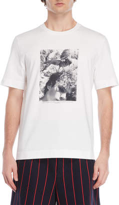 Jil Sander Fisher Bird Graphic Tee