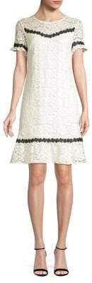 Karl Lagerfeld Paris Short Sleeve Lace Dress