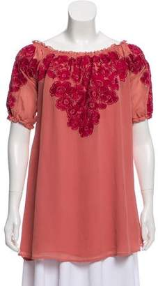 For Love & Lemons Embroidered Flowy Top
