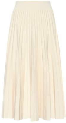 Polo Ralph Lauren Pleated wool knit midi skirt