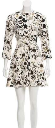 A.L.C. Silk Long Sleeve Mini Dress