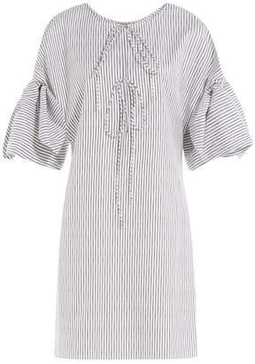 Three Graces Striped Cotton Nightgown