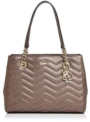 Kate Spade Reese Park Small Courtnee Metallic Leather Shoulder Bag