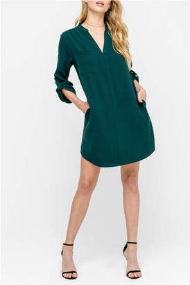 Lush 3/4 sleeve novak shift dress