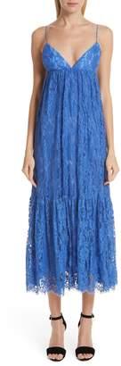 Michael Kors Tiered Lace Midi Dress