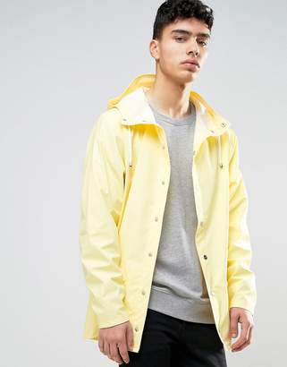 Rains Short Hooded Jacket Waterproof in Yellow