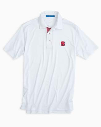 Southern Tide NC State Wolfpack Plaid Placket Polo Shirt