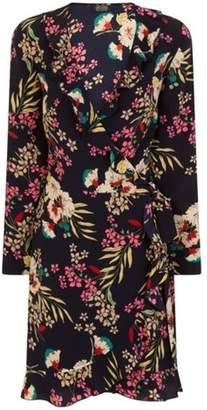 Dorothy Perkins Womens *Girls On Film Navy Wrap Dress