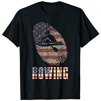 US Rowing T-Shirt USA Row Sport Mens Women Crew Team Gifts