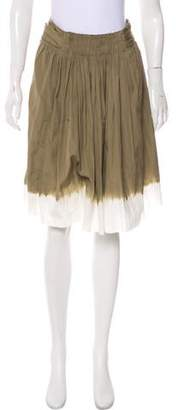 Prada Ruched Knee-Length Skirt