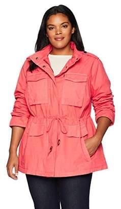 Levi's Women's Plus Size Parachute Cotton Military Jacket