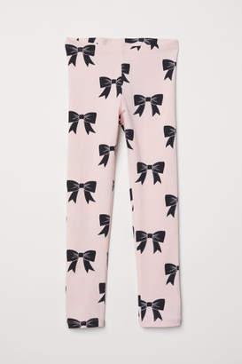 H&M Patterned Jersey Leggings - Pink
