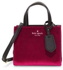 Kate Spade Small Sam Velvet Tote Bag