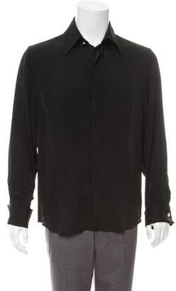 Gianni Versace French Cuff Satin Shirt