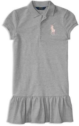 Ralph Lauren Girls' Drop-Waist Shirt Dress - Big Kid