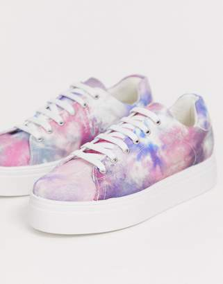 05f46a98491f Asos Design DESIGN Day Light chunky lace up trainers in tie dye