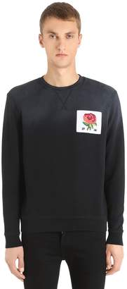 Kent & Curwen Rose Patch Cotton Sweatshirt
