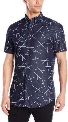Zanerobe Men's Xt 7 Foot Tall Short Sleeve Button Down Shirt