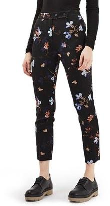 Women's Topshop Floral Print Cigarette Pants $75 thestylecure.com