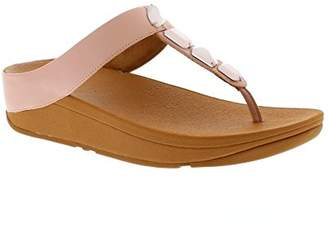 a6ed18640c9 FitFlop Women s ROKA Toe-Thong Sandals-Leather T-Bar (Dusky Pink 535