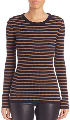 SET Women's Striped Knit Pullover