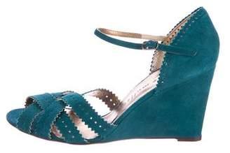 Bettye Muller Suede Wedge Sandals