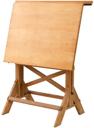 Rejuvenation Adjustable Oak and Pine Drafting Table