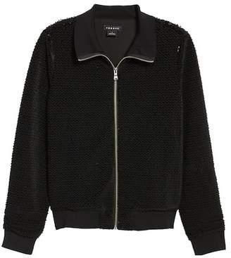 Trouve Sequin Velvet Track Jacket