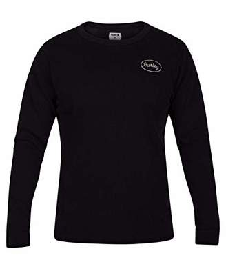 Hurley Men's Solid Embroidered Long Sleeve Thermal Shirt