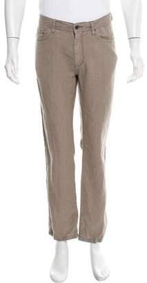 John Varvatos Tonal Linen Pants
