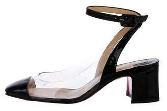 Christian Louboutin Patent Leather Ankle-Strap Pumps