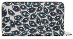 Alexander McQueen Alexander McQueen Printed Leather Continental Zip-Around Wallet