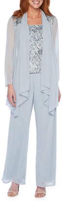 R & M Richards Long Sleeve Embellished Pant Suit