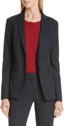 BOSS Jeriba Minidessin Stretch Wool Suit Jacket