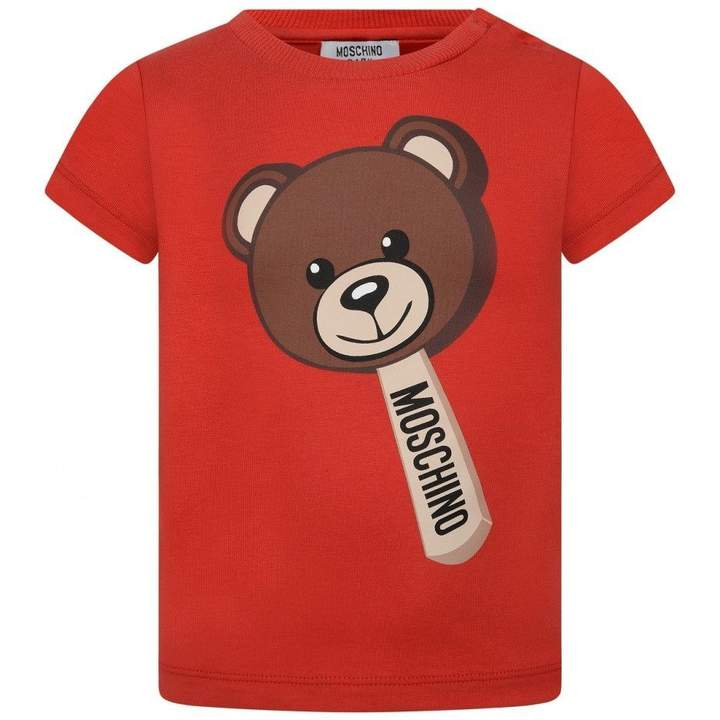MoschinoRed Teddy Lolly Baby Top
