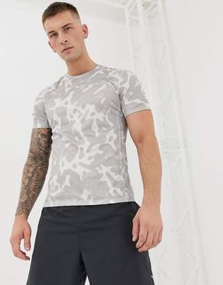 8814b0d3 Nike Running Camo T-Shirt In Grey AV4793-059