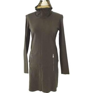 STOULS Green Leather Dress for Women