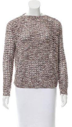 Inhabit Open Knit Long Sleeve Sweater w/ Tags $125 thestylecure.com