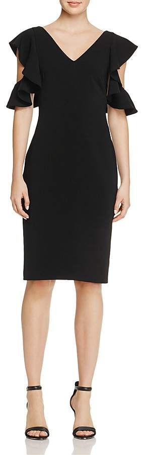 Laundry by Shelli Segal Ruffle Cold-Shoulder Dress