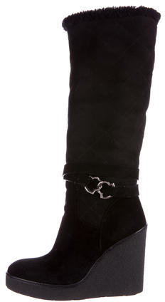 MonclerMoncler Shearling Wedge Boots
