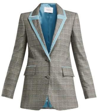 Racil - Okiya Houndstooth Wool Blazer - Womens - Grey Multi