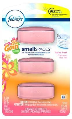 Febreze Island Fresh Scented Small Spaces Air Freshener Refills - 3ct