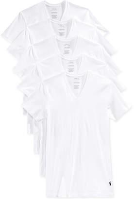 Polo Ralph Lauren Men's 5 Pack V-Neck Undershirts